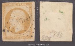 PC 1780 (Loury, Loiret (43)), Cote 35€ (+20€ Pour Le Timbre, N° 13A) - 1849-1876: Periodo Classico