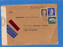 Allemagne Reich 1942 Lettre Par Avion De Berlin à La Suisse, Avec Censure  (G2200) - Covers & Documents
