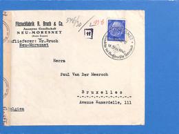 Allemagne Reich 1940 Lettre De Moresnet à La Belgique, Avec Censure  (G2201) - Storia Postale