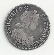 Louis XIIII - 1/12° Ecu - 1645 D - TB/TTB - 1643-1715 Louis XIV Le Grand