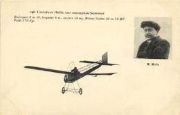L'aviateur Molla ,sur Monoplan Sommer RV - Piloten