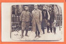 VaL199 ⭐ Carte-Photo 4 Poilus Du 19e Régiment Cagoule Hiver Neige Guerre 1914-1918 CpaWW1 - Guerra 1914-18
