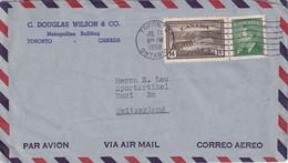 CANADA 1950 PLI AERIEN DE TORONTO - Brieven En Documenten