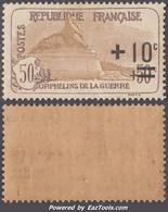 50c +10c (2ème Série Orphelins) Neuf ** Sans Charnière TB (Y&T N° 167, Cote +65€) - Unused Stamps