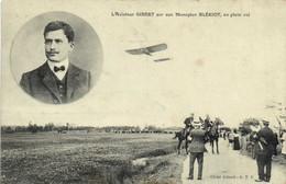 L'Aviateur GIBERT  Qur Son Monoplan BLERIOT ,en Plein Vol RV - Piloten