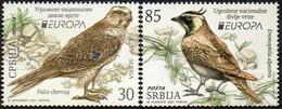 CEPT / Europa 2021 Serbie  N° --- Et ---- ** Animaux, Espèces Menacés - Oiseaux, Faucon, Alouette - Zonder Classificatie