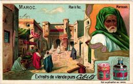 6 Chromos Morocco Barber In Fez Wedding Procession Market Tanger Street In Fez - Litho Prints Circa 1900 MAROKKO - Liebig
