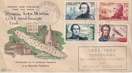 NCE - FDC Du Centenaire De La Présence Française - Covers & Documents