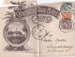 EGYPTE 1901 LETTRE DU CAIRE GHEZIREH PALACE HOTEL - 1866-1914 Khedivato De Egipto