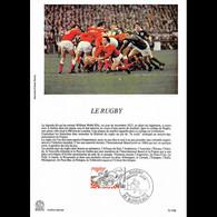 Encart Papier Glacé - Le Rugby - 9/10/1982 Bordeaux - Documenten Van De Post