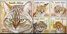 Südafrika South Africa Mi# 2037-41 Postfrisch/MNH - Fauna Cats - Zonder Classificatie