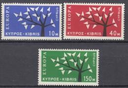 ZYPERN  215-217, Postfrisch **, Europa CEPT 1962, Stilisierter Baum - 1962