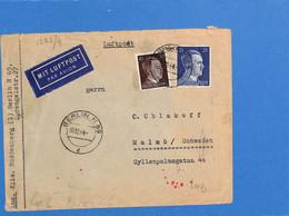 Allemagne Reich 1944 Lettre Par Avion De Berlin à La Suède, Avec Censure  (G2225) - Covers & Documents