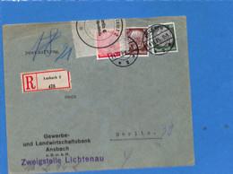 Allemagne Reich 1935 Lettre De Ansbach, Avec Censure  (G2236) - Storia Postale