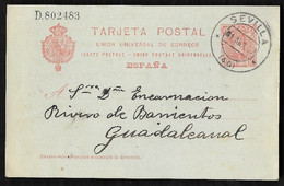1907. SEVILLA / GUADALCANAL. - Brieven En Documenten
