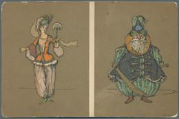 Ansichtskarten: Künstler / Artists: BENOIS, Alexander (1870-1960), Russischer Maler, Schriftsteller, - Zonder Classificatie
