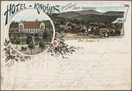 Ansichtskarten: 1890/1940 (ca.), 118 Alte Ansichtskarten, Dabei Viel Sachsen-Anhalt, Etwas Braunschw - 500 Postkaarten Min.