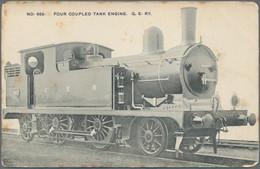 Varia (im Ansichtskartenkatalog): Ca. 350 Ansichtskarten Zum Thema Eisenbahn/Bahn. Dabei Etliche Ame - Ohne Zuordnung