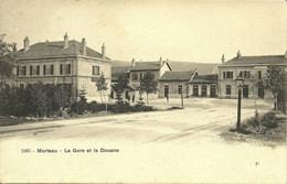 2485 Morteau La Gare Et La Douane édit J Farine Postée Dans Une Boite Mobile Frambouhans 1905 Pour Maiche - Autres Communes