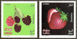ALGERIE ALGERIA 2021 - 2v - MNH - Fruits Blackberry & Strawberry - Strawberries Früchte Frutas Fruit Frutta Flora - Fruits
