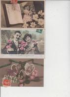 FANTAISIES  -  COUPLES  -  LOT DE 90 CARTES  -  Qqes Ex En Scan  - - 5 - 99 Postcards