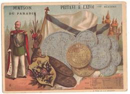 RUSSIE RUSSIA CHROMO PUBLICITAIRE PUBLICITE MAISON DU PARADIS PEITAVI & LAFOI A BEZIERS DRAPERIE SOIERIE AIGLE IMPERIAL - Altri