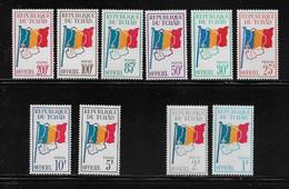 TCHAD  ( AFTC - 331 )  1966  N° YVERT ET TELLIER  SERVICE   N° 1/10    N** - Tsjaad (1960-...)