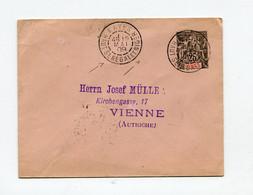 !!! ENTIER POSTAL DE 1909 CACHET DE KAYES - HAUT SENEGAL ET NIGER POUR L'AUTRICHE - Lettres & Documents
