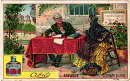 6 Chromos Complete Set -  Spain Way To The Market Fandango Public Writer Flower Seller Barber - Stier Ezel Dans Coiffeur - Liebig