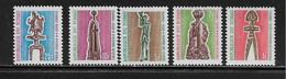 TCHAD  ( AFTC - 340 )  1964  N° YVERT ET TELLIER   TAXE   N° 35/39   N** - Tsjaad (1960-...)