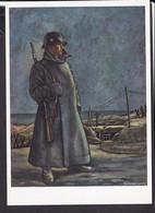 """Postkarte """" Das Bild Des Krieges """" , Ausstellung Luftgaukommando VI. , """" Auf Wache """" - Guerra 1939-45"""