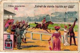 6 Chromos Complete Set - National Events Hyde Park London Corso Nice Paris Zürich Venice Carnaval Clowns Gondel Gondola - Liebig