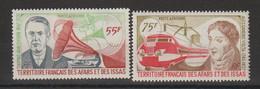 Afars Et Issas 1977 Hommes Célèbres PA 110-111 2 Val ** MNH - Nuovi
