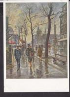 """Postkarte """" Das Bild Des Krieges """" , Ausstellung Luftgaukommando VI. , """" Herbsttag In Paris """" - Guerra 1939-45"""