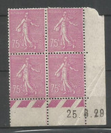 Coins Date France   Neuf * N 202 Année 1929 Charnier En Haut - ....-1929