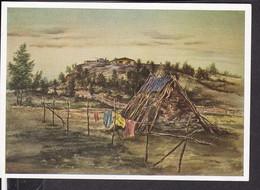"""Postkarte """" Das Bild Des Krieges """" , Ausstellung Luftgaukommando VI. , """" Flakgeschütz Und Lappkate  """" - Guerra 1939-45"""
