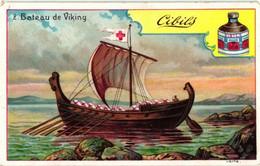 6 Cards Litho Set Complete Ships Viking Ship Warship Venetian Galley Dutch - Boats Scheepvaart Zeilschepen - Liebig