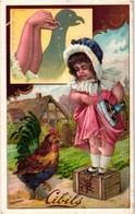 Anno 1900 -  6 Cartes Chromo Litho C1900 Hand Shadow Cards Ombres Chinoises Sneak Pig Rooster Rabit - Schaduwbeelden - Liebig