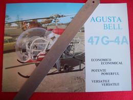DEPLIANT ELICOTTERO AGUSTA  BELL 47 G-4A - Non Classificati
