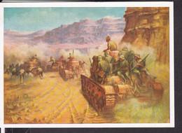 """Postkarte """" Das Bild Des Krieges """" , Ausstellung Luftgaukommando VI. , """" Feuerüberfall ( Afrika ) """" - Guerra 1939-45"""