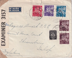 PORTUGAL 1944 PLI AERIEN CENSURE DE S.BENTO - Covers & Documents