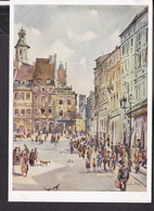 """Postkarte """" Das Bild Des Krieges """" , Ausstellung Luftgaukommando VI. , """" Warschau Der Alte Markt """" - Guerra 1939-45"""