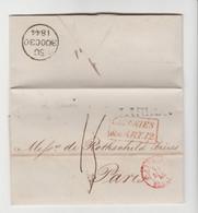 """PORTUGAL: LAC De Lisbonne De 1844 + """" Colonies """" ART 12, Voie D'Angleterre + CàD """" ANGL. Pour Rohschild à Paris - ...-1853 Vorphilatelie"""
