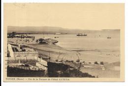 TANGER- Vue De La Terrasse De L'Hôtel LUTETIA...1937  Cachet TANGER-CHERIFIEN... - Tanger