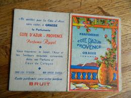 GRASSE +CARTE PARFUMEE DE LA PARFUMERIE COTE D'AZUR ET PROVENCE  A GRASSE PARFUMEE AVEC NOTRE PARFUM BRUIT - Vintage (until 1960)