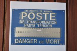 Plaque Métallique Emboutie 'EDF - Poste De Transformation Haute Tension' - Otros Aparatos