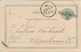 Suède Entier Postal 1886 - Postal Stationery