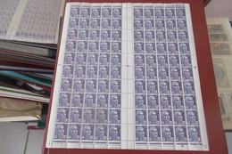 France Feuille Complète Coin Daté 20 01 1953   Cat YT N° 883  De 100 Ex  N** MNH - Full Sheets