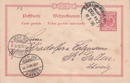 ALLEMAGNE EMPIRE ENTIER CARTE DE BERLIN POUR LA SUISSE 1890 - Covers & Documents