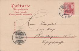 ALLEMAGNE EMPIRE ENTIER CARTE DE KONSTANZ 1903 - Covers & Documents